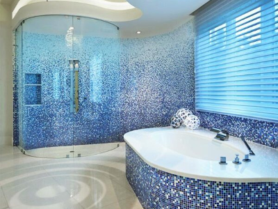 Tiles & mosaic in the bathroom