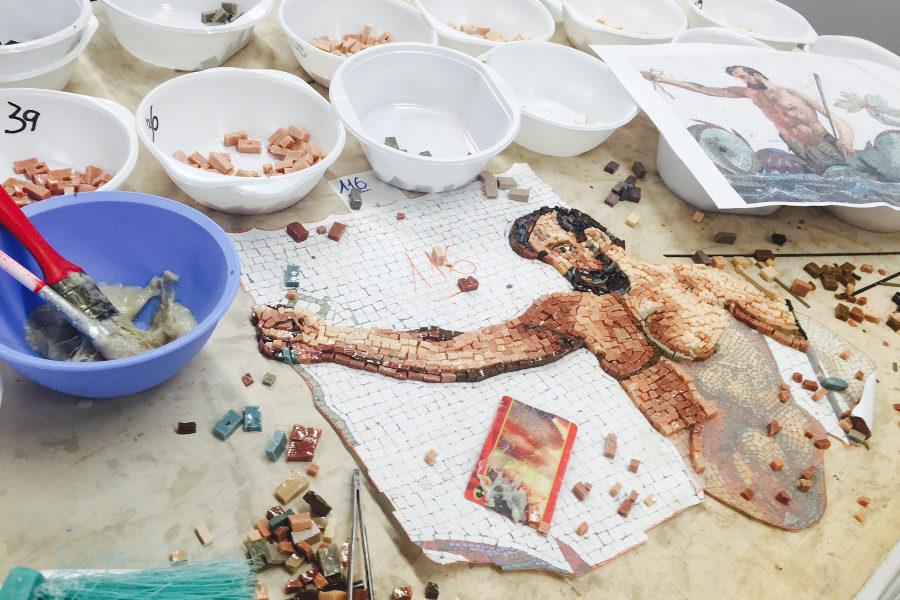 mosaikverlegung kunst