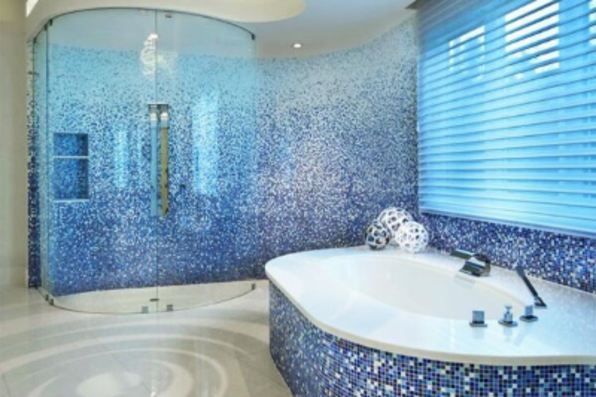 mosaik fliesen im bad