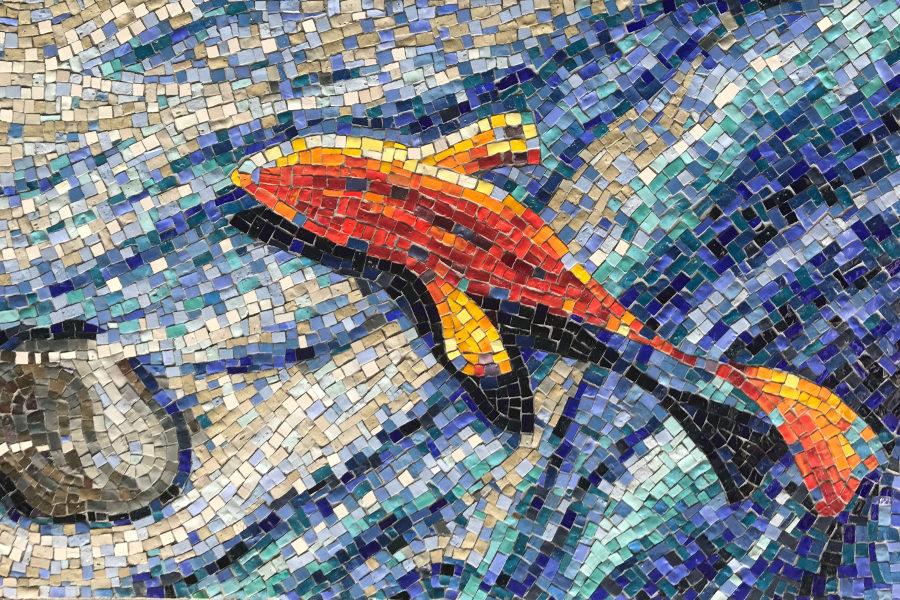 mosaikverlegung fisch